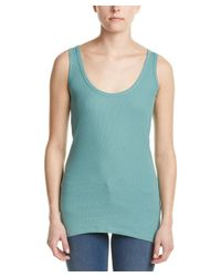 French Connection - Blue Ribbed Tank - Lyst