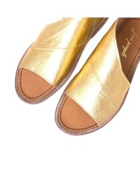 Free People - Metallic Freepeople Womens Mont Blanc Open Toe Casual Slide Sandals - Lyst