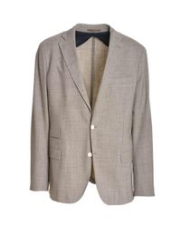 Eleventy - Brown Men's Beige Polyester Blazer for Men - Lyst