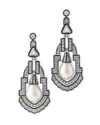 Kenneth Jay Lane - Metallic Women's Silver/pear/crystal Earring - Lyst