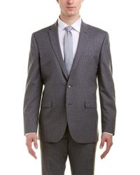 Kenneth Cole - Gray New York Slim Fit Wool Suit With Flat Front Pant for Men - Lyst