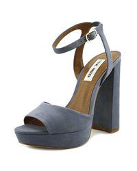 Steve Madden - Blue Womens Brrit Leather Open Toe Casual Platform Sandals - Lyst