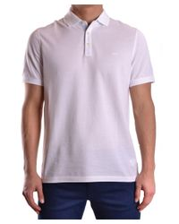 Michael Kors | Men's Cs65fu30fh100 White Cotton Polo Shirt for Men | Lyst