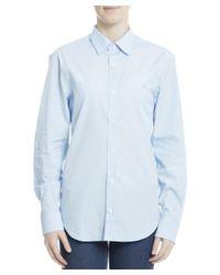 Burberry - Men's 3991160 Light Blue Cotton Shirt for Men - Lyst