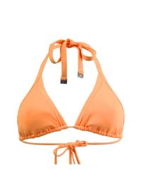Seafolly - Orange Triangl Top Swimsuit - Lyst
