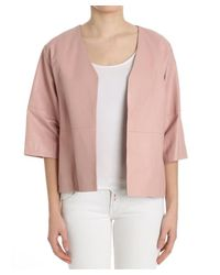Ottod'Ame - Women's Pink Leather Jacket - Lyst