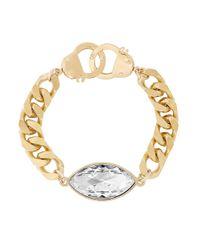 Eklexic | Metallic Navette Pendant Bracelet (gold) | Lyst