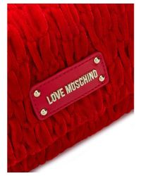 Love Moschino - Women's Red Velvet Shoulder Bag - Lyst