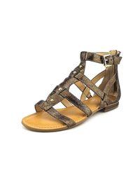 Marc Fisher - Gray Women's Brandi Flat Gladiator Sandals - Lyst