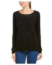 NYDJ - Black Rhinestone Sweater - Lyst