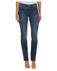 7 For All Mankind - Blue 7 For All Mankind Kimmie Medium Mount Rose Straight Leg - Lyst