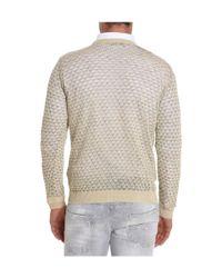 Roberto Collina - Brown Men's Beige Linen Sweater for Men - Lyst