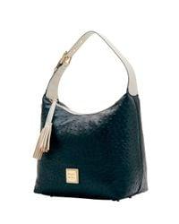 Dooney & Bourke - Black Ostrich Paige Sac Shoulder Bag - Lyst