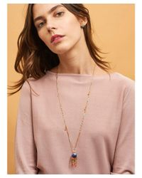Les Nereides | Blue Atlantide Cabochon Anemone And Charms Long Necklace | Lyst