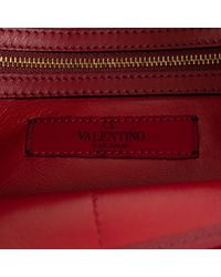 Valentino - Red Leather And Suede Envelope Large Clutch Bag - Lyst