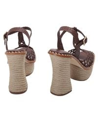 Paloma Barceló - Women's Brown Leather Sandals - Lyst