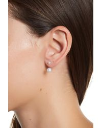 Adornia - Multicolor Sterling Silver And Freshwater Pearl Earring Jacket - Lyst