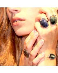 Adornia - Gray Labradorite And Champagne Diamond Dree Bracelet - Lyst