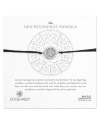 Dogeared - Metallic Mandala Collection Silver Adjustable Bracelet - Lyst