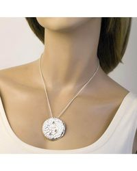 Jewelista - White Sterling Silver & Tourmaline Sea Fan Pendant - Lyst