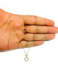 JewelryAffairs - 10k Yellow Gold Double Hexagon Geometric Pendant Necklace, 18 - Lyst