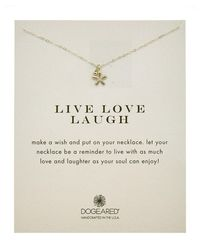 Dogeared | Metallic Silver Live Laugh Love Necklace | Lyst