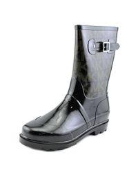 15a7c600a6da Lyst - Michael Michael Kors Mk Logo Mid Rainboot Women Synthetic ...
