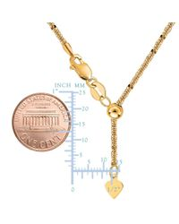 JewelryAffairs - 10k Yellow Gold Adjustable Sparkle Link Chain Necklace, 1.5mm, 22 Inch - Lyst