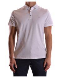 Michael Kors | Men's Cs65fgvc93100 White Cotton Polo Shirt for Men | Lyst