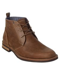 Original Penguin - Brown Monty Leather Chukka Boot for Men - Lyst