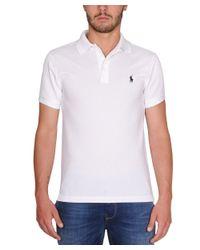 Ralph Lauren - Men's A12kjo24btndra1000 White Cotton Polo Shirt for Men - Lyst