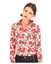The Shirt by Rochelle Behrens - Red The Icon Shirt In Rose - Lyst