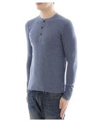 Rag & Bone - Men's Light Blue Wool Sweater for Men - Lyst