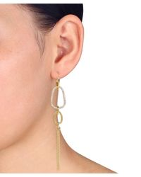 Catherine Malandrino - Metallic Diamond Earrings In 18k Yellow Gold Plated Sterling Silver - Lyst