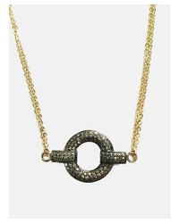 Blue Candy Jewelry - Black Pave Diamond Link Necklace - Lyst