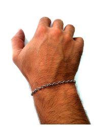 JewelryAffairs - 14k White Gold Oval Rolo Link Chain Bracelet, 3.2mm, 7 - Lyst
