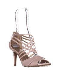 Bandolino - Marlisa Strappy Peep Toe Sandals, Light Pink - Lyst