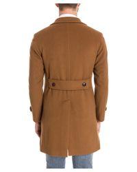 Tagliatore - Men's Brown Wool Coat for Men - Lyst