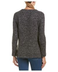 Splendid - Black V-neck Sweater - Lyst