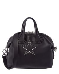 Givenchy - Black Nightingale Small Star Embellished Leather Satchel - Lyst