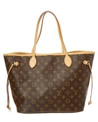 Louis Vuitton - Brown Monogram Canvas Neverfull Mm - Lyst
