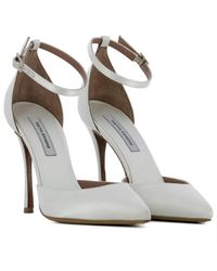 Tabitha Simmons - Women's White Leather Pumps - Lyst