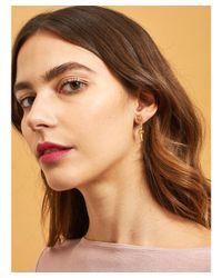 Les Nereides - Metallic Mini Pas De Deux With White Ballerina Clip Earrings - Lyst