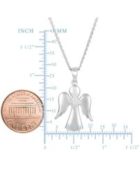 JewelryAffairs - White Sterling Silver Angel Pendant Sliding Fashion Necklace, 18 - Lyst