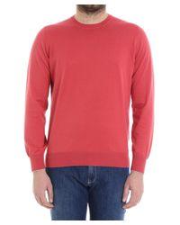 Brunello Cucinelli - Men's Red Cotton Sweater for Men - Lyst