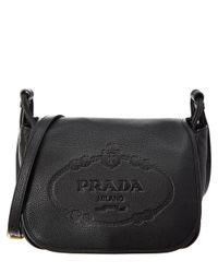 e0cde4f90950 Lyst - Prada Calf Leather Shoulder Bag in Black