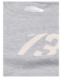 Gant - Gray Men's Grey Cotton T-shirt for Men - Lyst