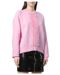 DSquared² - Women's Pink Cotton Sweatshirt - Lyst
