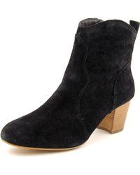 Steve Madden - Black Hipstr Round Toe Suede Ankle Boot - Lyst
