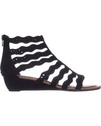 Carlos By Carlos Santana - Carlos Carlos Santana Kitt Low Heel Wedge Sandals, Black - Lyst